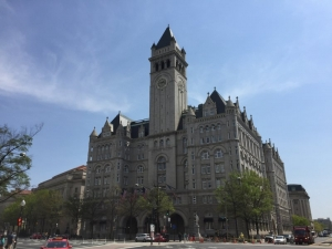Clock tower over the Trump hotel quietly reopens for tours