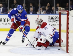 Rangers top Canadiens 2-1; series tied 2-2