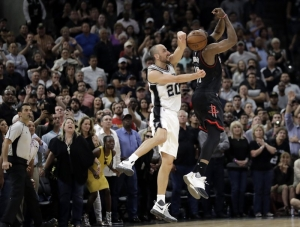 Spurs overcome Leonard injury, Harden to beat Rockets in OT
