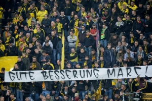 Solidarity on show as Monaco fans adopt Dortmund's black and yellow