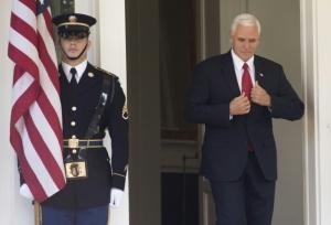 University students walk out of Pence speech