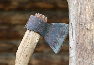 Woman hacked to death with an axe