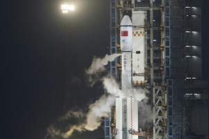 China's first cargo spacecraft docks with space lab