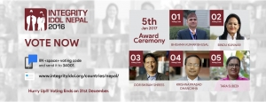 Accountability Lab Nepal announces 5 candidates for Integrity Idol